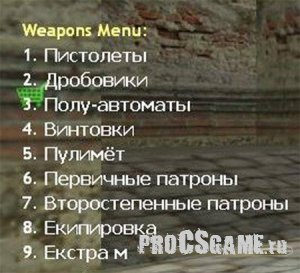 Weapon Menu